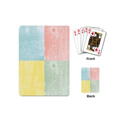 Pastel Textured Squares Playing Cards (mini) by StuffOrSomething