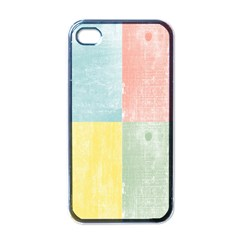 Pastel Textured Squares Apple Iphone 4 Case (black) by StuffOrSomething