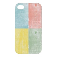 Pastel Textured Squares Apple Iphone 4/4s Premium Hardshell Case by StuffOrSomething