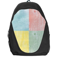 Pastel Textured Squares Backpack Bag by StuffOrSomething