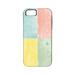 Pastel Textured Squares Apple Iphone 5 Classic Hardshell Case (pc+silicone) by StuffOrSomething