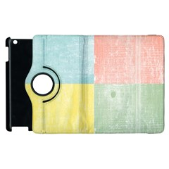 Pastel Textured Squares Apple Ipad 2 Flip 360 Case by StuffOrSomething