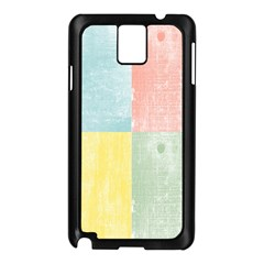 Pastel Textured Squares Samsung Galaxy Note 3 N9005 Case (black) by StuffOrSomething