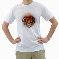 Eye Of The Tiger Men s T Shirt (white)  by Contest1741083