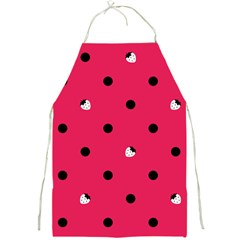 Strawberry Dots Black With Pink  Apron by strawberrymilk