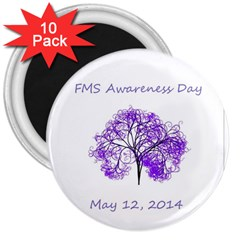 Fms Awareness Day 2014 3  Magnet (10 Pack) by FunWithFibro