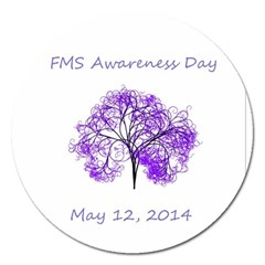 Fms Awareness 2014 Magnet 5  (round) by FunWithFibro