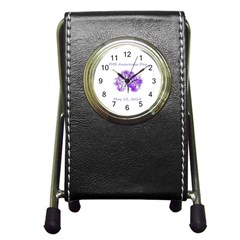 Fms Awareness 2014 Stationery Holder Clock by FunWithFibro