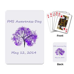 Fms Awareness 2014 Playing Cards Single Design by FunWithFibro