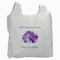 Fms Awareness 2014 White Reusable Bag (one Side) by FunWithFibro