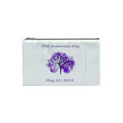 Fms Awareness 2014 Cosmetic Bag (small) by FunWithFibro