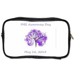 Fms Awareness 2014 Travel Toiletry Bag (one Side) by FunWithFibro