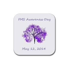 Fms Awareness 2014 Drink Coasters 4 Pack (square) by FunWithFibro