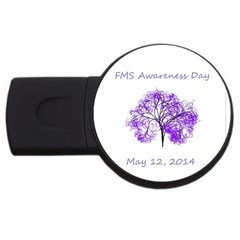 Fms Awareness 2014 4gb Usb Flash Drive (round) by FunWithFibro