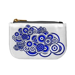 Trippy Blue Swirls Coin Change Purse by StuffOrSomething