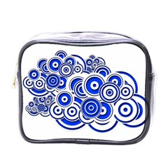 Trippy Blue Swirls Mini Travel Toiletry Bag (one Side) by StuffOrSomething