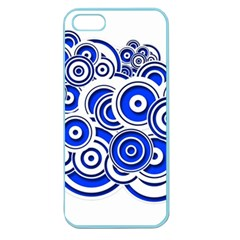 Trippy Blue Swirls Apple Seamless Iphone 5 Case (color) by StuffOrSomething