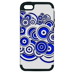 Trippy Blue Swirls Apple Iphone 5 Hardshell Case (pc+silicone) by StuffOrSomething