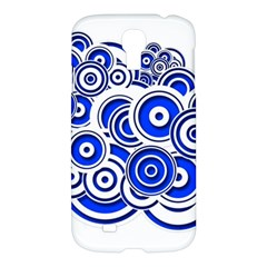 Trippy Blue Swirls Samsung Galaxy S4 I9500/i9505 Hardshell Case by StuffOrSomething