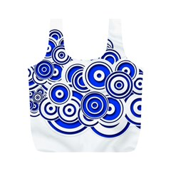 Trippy Blue Swirls Reusable Bag (m) by StuffOrSomething