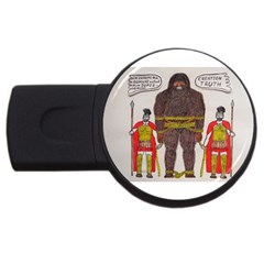 Big Foot & Romans 4gb Usb Flash Drive (round) by creationtruth