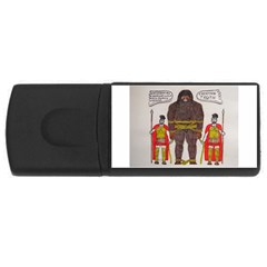 Big Foot & Romans 4gb Usb Flash Drive (rectangle) by creationtruth