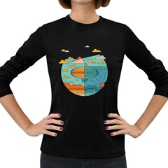 As Above, So Below Women s Long Sleeve T Shirt (dark Colored) by Contest1861806
