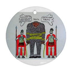 Big Foot 2 Romans Round Ornament (two Sides)