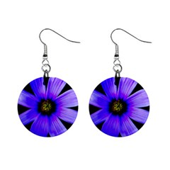 Purple Bloom Mini Button Earrings by BeachBum