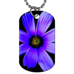 Purple Bloom Dog Tag (one Sided) by BeachBum