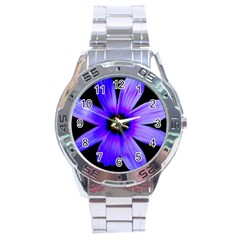 Purple Bloom Stainless Steel Watch by BeachBum