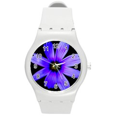 Purple Bloom Plastic Sport Watch (medium) by BeachBum