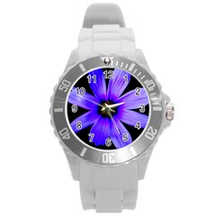 Purple Bloom Plastic Sport Watch (large) by BeachBum
