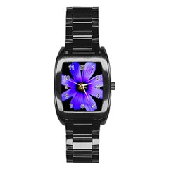 Purple Bloom Stainless Steel Barrel Watch by BeachBum