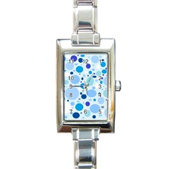 Bubbly Blues Rectangular Italian Charm Watch by StuffOrSomething