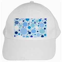 Bubbly Blues White Baseball Cap by StuffOrSomething