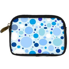 Bubbly Blues Digital Camera Leather Case by StuffOrSomething