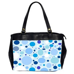 Bubbly Blues Oversize Office Handbag (two Sides) by StuffOrSomething