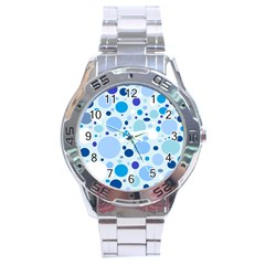 Bubbly Blues Stainless Steel Watch by StuffOrSomething