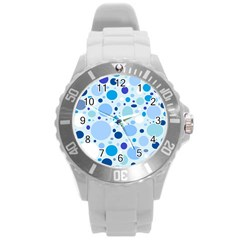 Bubbly Blues Plastic Sport Watch (large) by StuffOrSomething