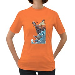 Pirate Ship Women s T Shirt (colored)