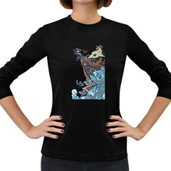 Pirate Ship Women s Long Sleeve T Shirt (dark Colored) by Contest1889920