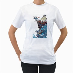 Pirate Ship Women s T Shirt (white)