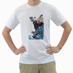 Pirate Ship Men s T-shirt (white)  by Contest1889920