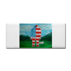 Painted Flag Big Foot Aust Hand Towel by creationtruth