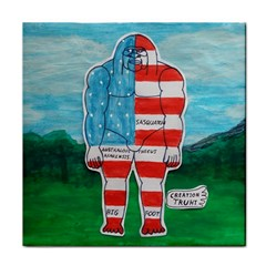 Painted Flag Big Foot Aust Ceramic Tile by creationtruth