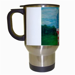 Painted Flag Big Foot Aust Travel Mug (white) by creationtruth