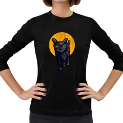 Meowl Women s Long Sleeve T Shirt (dark Colored)