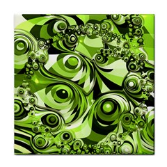 Retro Green Abstract Ceramic Tile by StuffOrSomething