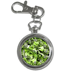 Retro Green Abstract Key Chain Watch by StuffOrSomething